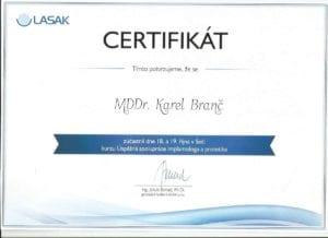 Certifikát MDDr. Karel Branč